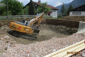 Neubau eines Kellers in Bühl
