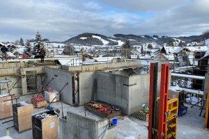 Bau eines Mehrfamilienhauses in Oberstaufen